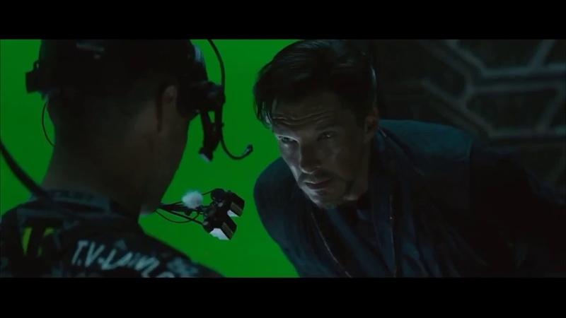 «Мстители: Война бесконечности» (Avengers: Infinity War) - Doctor Strange Vs Ebony Maw BTS Exclusive VFX Breakdown