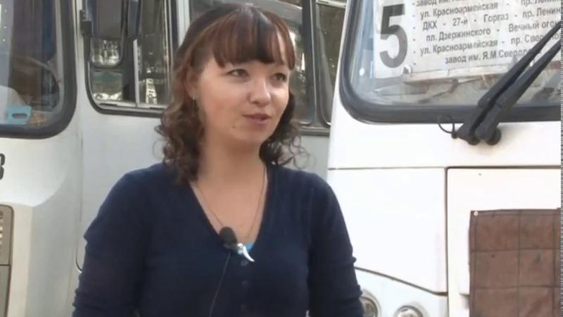 Елена Кожина единственная женщина в Дзержинске водитель городского автобуса