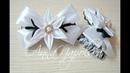 Милі шкільні бантики канзаши Милые школьные бантики своими руками Lovely bows kanzashi