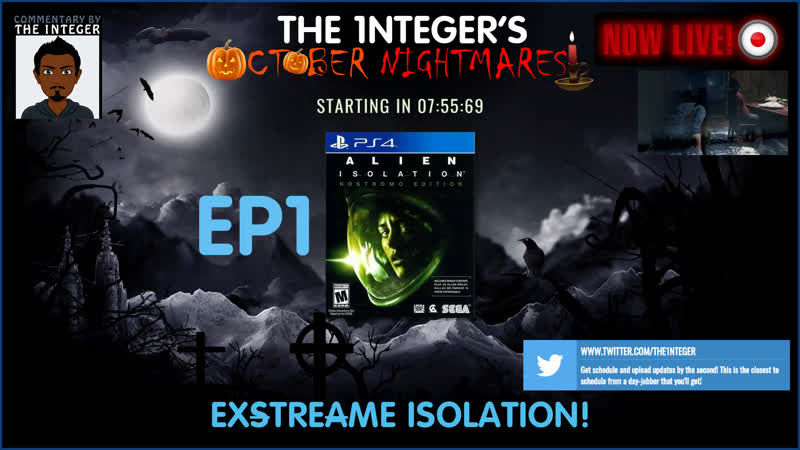Hard Difficulty with Cam, Head tracking Sound Detection on! Exstreame Alien Isolation! - EP1 OctoberNightmares Horror