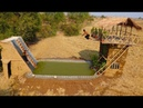 Build Water Slide House With Swimming Pool And Build Three Story House Full Video