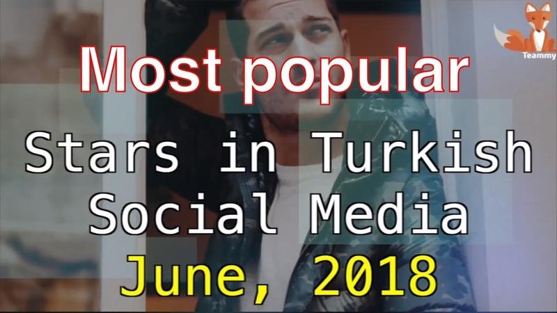 Most Popular Stars in Turkish Social Media, June 2018 TeammyTS