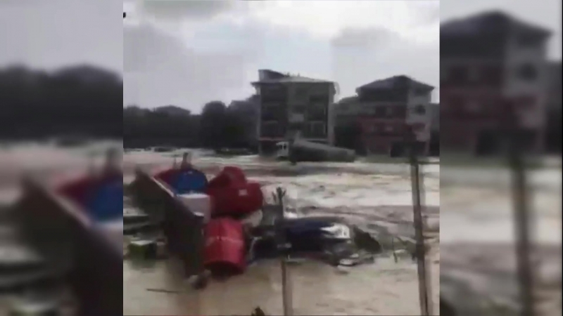 Последствия прохождение средиземноморского тропического шторма Зорбас на юге Греции (29.09.18)