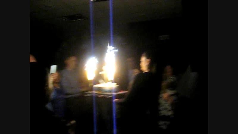17.11.18г, Юбилей 70 лет, бар - РЕСТО 50х50, Кульминация вечера - Торжественный вынос морского) юбилейного торта!