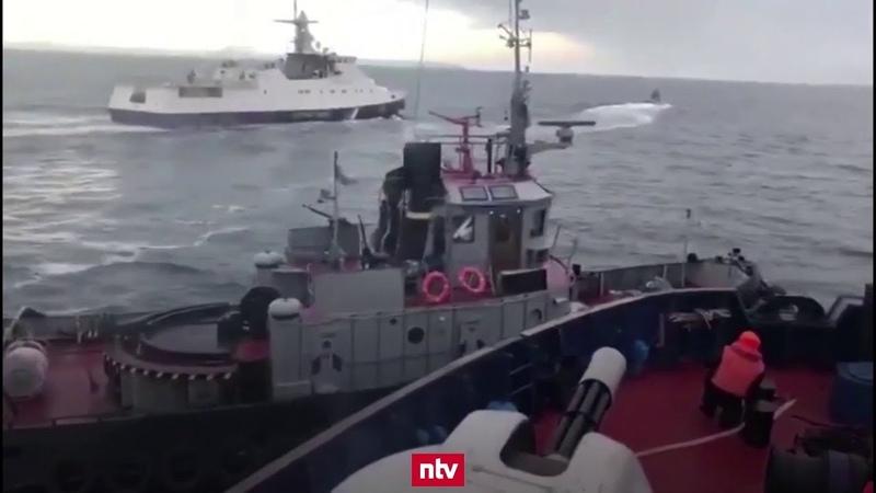 Russische Marine rammt und beschießt ukrainische Schiffe