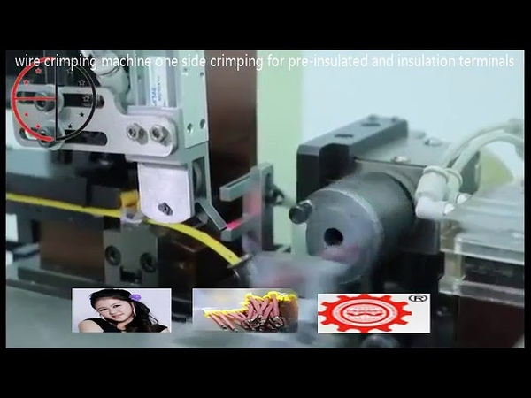 Automatic wire crimping machine one side crimping for pre insulated and insulation terminals