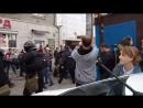Новосибирск, жесткое задержание на митинге