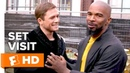 Jamie Foxx Taron Egerton Sing on Set | 'Robin Hood' Set Visit | Fandango All Access