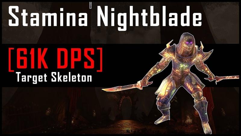 Stamina Nightblade [61k DPS] on 6mil Target Dummy