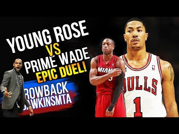 Young Derrick Rose vs PRiME Dwyane Wade EPiC Duel 2011 01 15 67 Pts 8 Blks Combined