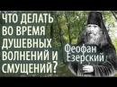 Что делать во время Душевных волнений и Смущений Старец Феофан Езерский