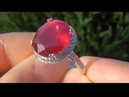 Newport Beach Estate Auction - Pigeon Blood Red Ruby Diamond Ring