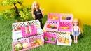 Spielspaß mit Puppen. Barbie geht mit Evi auf den Markt. Spielzeugvideo