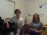 Acoustic Cover Radioactive - Imagine Dragons ( Damon Sparkes Ft. his sister Anjelica)