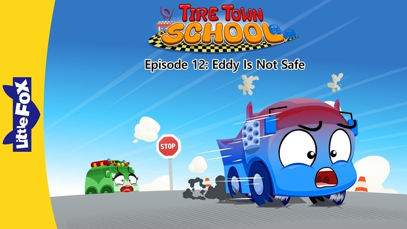Tire Town School 12 | Eddy Is Not Safe | Cars | Little Fox | Animated Stories for Kids