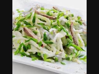Салат из редьки и говядины