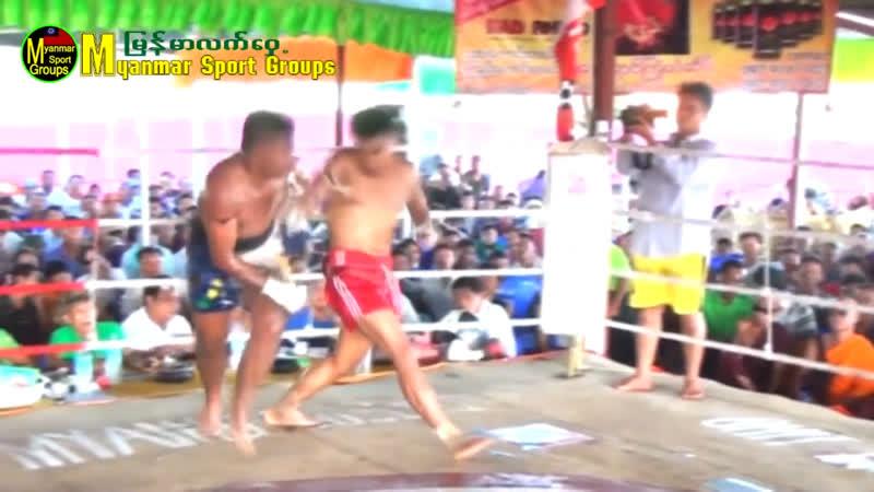 Бирманский бокс летхвей жёсткие попадания Win Htet Thu vs Kyaw Naing 2018