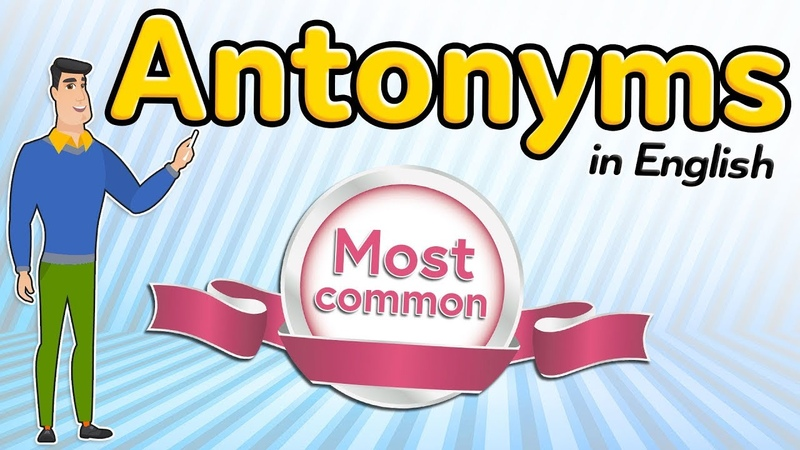 Most common antonyms in English | Learn vocabulary in English