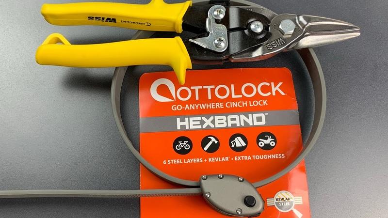 [892] Cut in Seconds $75 Ottolock Hexband Bike Lock