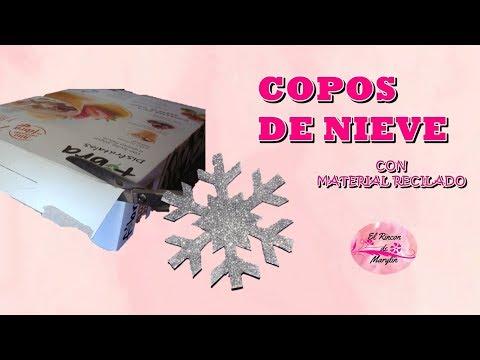 COMO HACER COPOS DE NIEVE CON MATERIAL RECICLADO