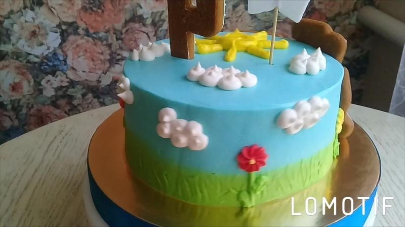 Торт с паровозиком🚂