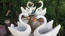 Diy Vaso cisne de cimento concrete swan vase