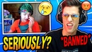 NINJA REACTS TO PRO FAZE PLAYER NATE HILL *BANNED* FROM FORTNITE SKIRMISH'S! (CHEATING)