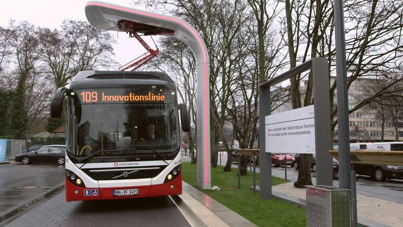 Автобусы Volvo 's first Electric Hybrid bus in commercial service