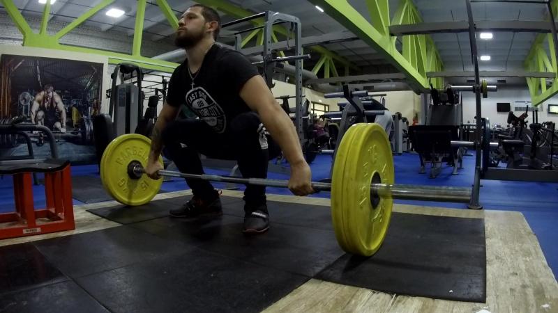 Тяга рывковая 80 кг. Dead Lift Snatch grip 80kg
