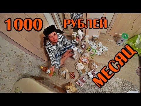 МОЖНО ЛИ ВЫЖИТЬ МЕСЯЦ НА 1000 РУБЛЕЙ В РОССИИ ДЕНЬ1-3