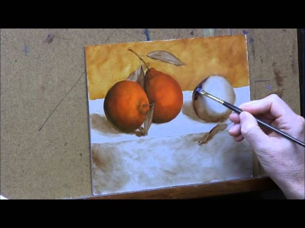Oranges 2 - Glazing Shadows/ Laying in Color