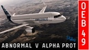 Airbus A320 - Abnormal V Alpha Prot ( OEB 48 )