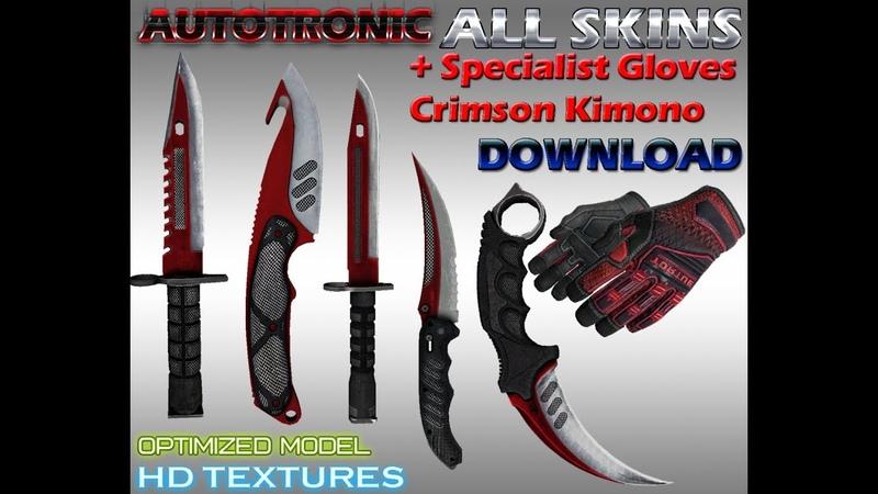 ALL Autotronic skins HD Specialist gloves Crimson Kimono