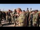 Сдача боевиками вооружения и техники в городе Босра аш Шам после того как боевики согласились на урегулирование