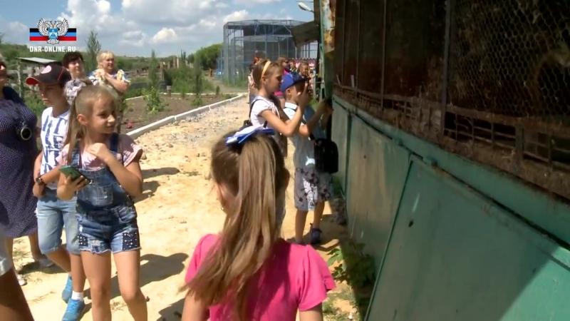 Общественный штаб организовал поездку в зоопарк для детей из прифронтовых Песок