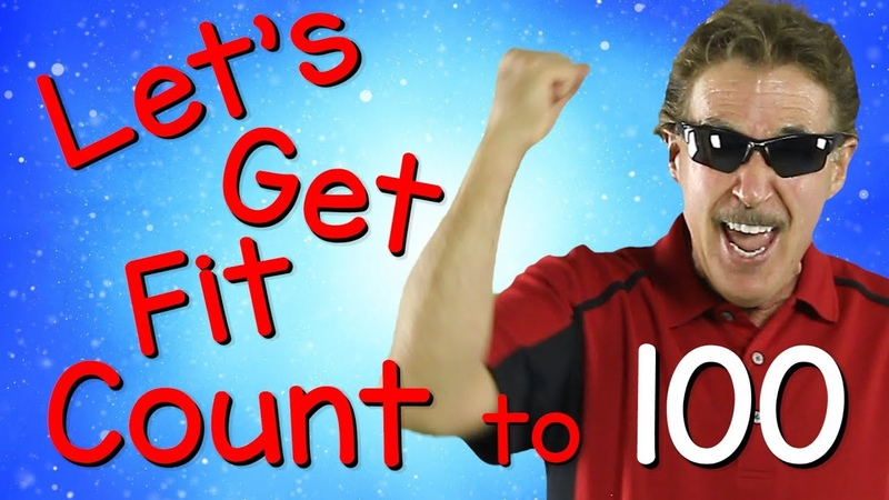 Lets Get Fit | Version 3 | Count to 100 | Exercises for Kids | 100 Days of School | Jack Hartmann