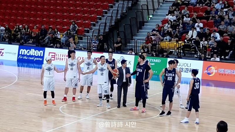 181111 台韓明星公益籃球賽 開球 박광재 진운 강인수 珍雲 姜仁秀