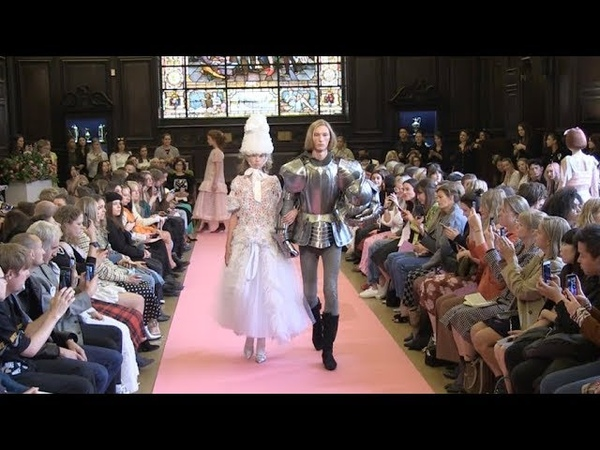 Models and designer on the runway of Ryan Lo M W fashion show in London