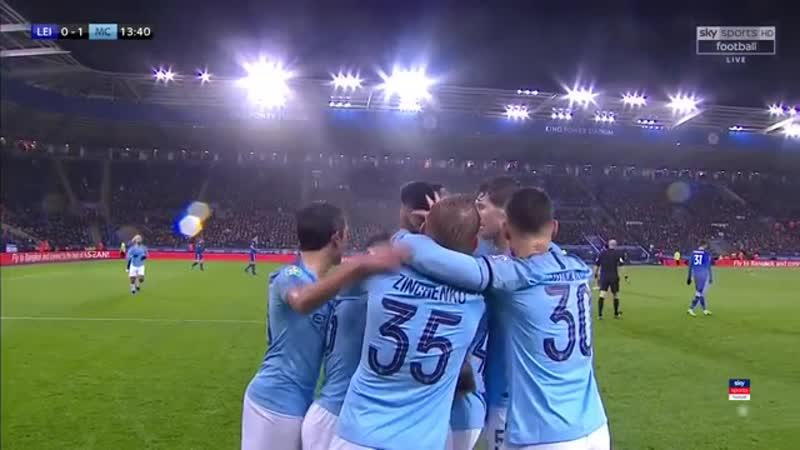 Лестер 1·2 Манчестер Сити · Англия · Кубок Футбольной Лиги 2019 · Четвертьфинал · Видео обзор голов матча