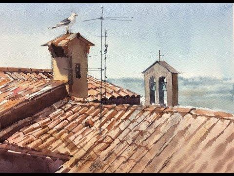 Вебинар с Вероникой Калачевой «Акварельные портреты крыш»