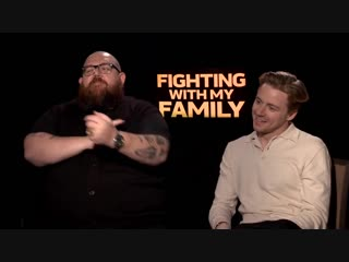 FIGHTING WITH MY FAMILY - Nick Frost Jack Lowden talk about the movie - Official Interview
