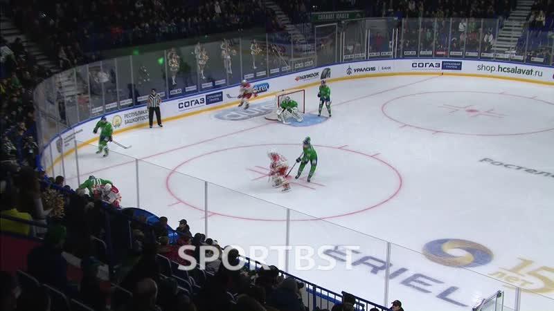 В первом периоде хоккеисты Салавата Юлаева проиграли по броскам.