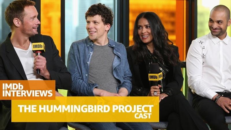 Alexander Skarsgård Salma Hayek Cast of 'The Hummingbird Project' Tell Funny Stories of Filming