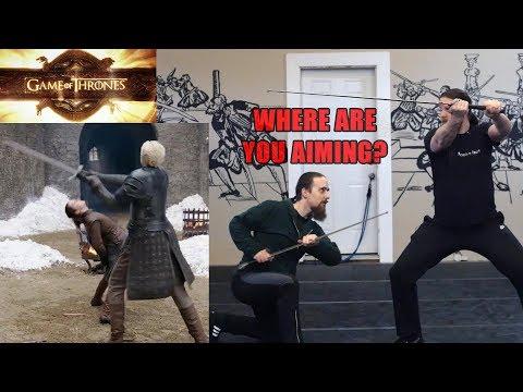 GoT Analyzed: Arya vs Brienne - More Realistic Choreography?