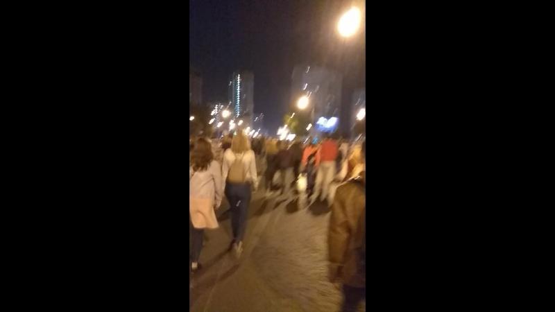 Возвращение с открытия Международного карнавала света Москва Гребной канал Крылатское
