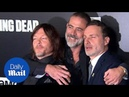 Andrew Lincoln Norman Reedus and Jeffrey Dean Morgan at Walking Dead Season 9 premiere