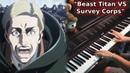 Shingeki no Kyojin 3 Part 2 EP 4 OST Beast Titan VS Survey Corps Piano Orchestral Cover