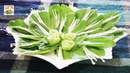Art in Bok Choy and Needle Mushroom Arranging for Soup