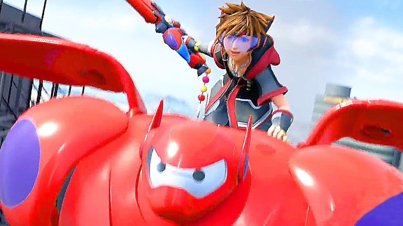 KINGDOM HEARTS 3 Extended Gameplay Trailer Big Hero 6 (2018)