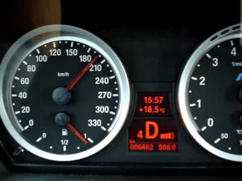 BMW M3 E92 Speedo 0-210 km/h